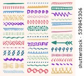 collection of hand drawn... | Shutterstock .eps vector #539845306