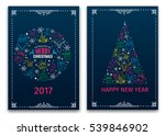 christmas and new year greeting ... | Shutterstock .eps vector #539846902