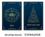 christmas and new year greeting ... | Shutterstock .eps vector #539846908