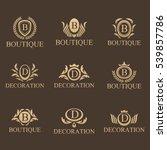 luxury set. luxury  business ... | Shutterstock .eps vector #539857786
