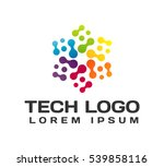 technology logo. technology... | Shutterstock .eps vector #539858116