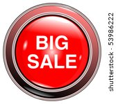 """button red """"big sale"""" isolated... 