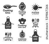 cooking logos set. food studio... | Shutterstock .eps vector #539867266