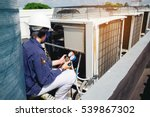technician is checking air... | Shutterstock . vector #539867302