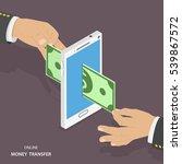 online money transfer isometric ... | Shutterstock .eps vector #539867572