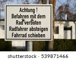 prohibition sign for cyclists... | Shutterstock . vector #539871466