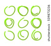 set of nine hand drawn circles... | Shutterstock .eps vector #539873236