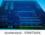 circuit board background... | Shutterstock . vector #539873656