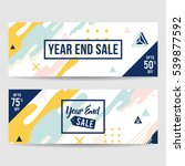 year end sale banner collection ... | Shutterstock .eps vector #539877592