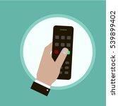 hand remote vector | Shutterstock .eps vector #539899402
