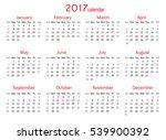 calendar for 2017 year on white ... | Shutterstock .eps vector #539900392