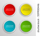 set special round offer sticker ... | Shutterstock .eps vector #539900446