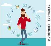 vector business man characters... | Shutterstock .eps vector #539900662