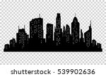 set of vector city silhouette... | Shutterstock .eps vector #539902636