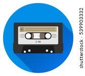 retro audio cassette  audio... | Shutterstock .eps vector #539903332
