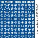 vector icons for design | Shutterstock .eps vector #539903746