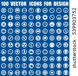 vector icons for design | Shutterstock .eps vector #539903752