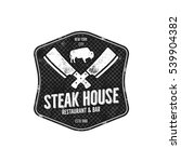 steak house vintage label.... | Shutterstock .eps vector #539904382