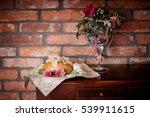 wedding bread with salt detail  ...   Shutterstock . vector #539911615