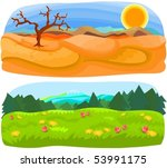 set of a various scenery b | Shutterstock .eps vector #53991175