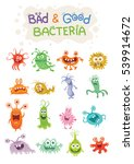 good bacteria and bad bacteria... | Shutterstock . vector #539914672