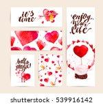 valentine day congratulation... | Shutterstock . vector #539916142
