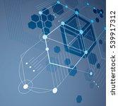 3d vector bauhaus abstract blue ... | Shutterstock .eps vector #539917312
