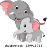 cute elephant cartoon | Shutterstock . vector #539919766