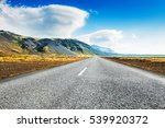 road between the mountains and... | Shutterstock . vector #539920372