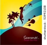 summer girl | Shutterstock .eps vector #53992108