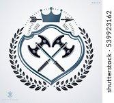vintage decorative heraldic... | Shutterstock .eps vector #539923162