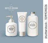 vector set of white realistic... | Shutterstock .eps vector #539924026