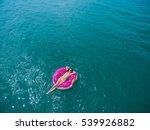 top view of young brunette... | Shutterstock . vector #539926882