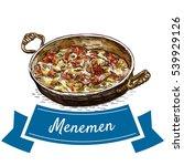 menemen colorful illustration.... | Shutterstock .eps vector #539929126