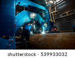 welding of pipes at the plant | Shutterstock . vector #539933032