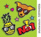 pop art fashion chic patches ...   Shutterstock .eps vector #539944006