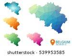 set of vector belgium maps.... | Shutterstock .eps vector #539953585