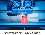 modern 3d printer printing...   Shutterstock . vector #539954056