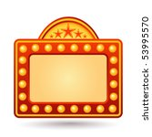 red neon sign | Shutterstock .eps vector #53995570