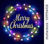merry christmas greeting card... | Shutterstock . vector #539956426
