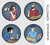 a set of men's professions .... | Shutterstock .eps vector #539957776