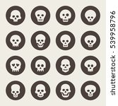 skull icon set | Shutterstock .eps vector #539958796