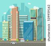 cityscape illustration  flat...   Shutterstock . vector #539959162