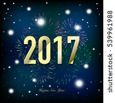 new year 2017 card with... | Shutterstock .eps vector #539961988