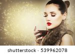 beautiful woman with dark... | Shutterstock . vector #539962078