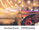 drunk young man drives a car... | Shutterstock . vector #539962666