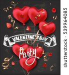 valentine's day party...   Shutterstock .eps vector #539964085