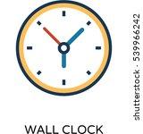 wall clock vector icon    Shutterstock .eps vector #539966242