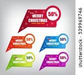 christmas sale banner | Shutterstock .eps vector #539969746