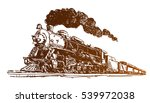 steam locomotive sketch | Shutterstock .eps vector #539972038